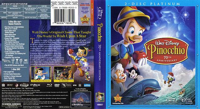 Pinocchio: 70th Anniversary - 786936785951 - Disney Blu ... Pinocchio 70th Anniversary Edition Dvd