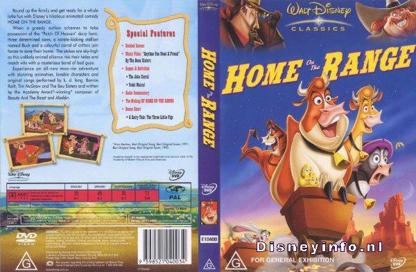 home on the range 9398521040034 disney dvd database. Black Bedroom Furniture Sets. Home Design Ideas