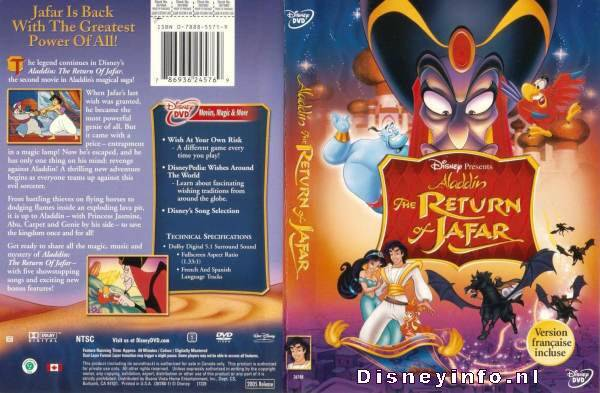 Aladdin The Return Of Jafar 786936245769 Disney Dvd