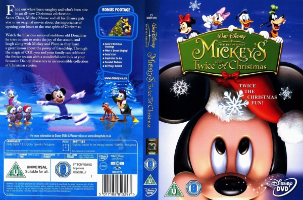 Mickey's Twice Upon A Christmas - 5017188813297 - Disney DVD Database