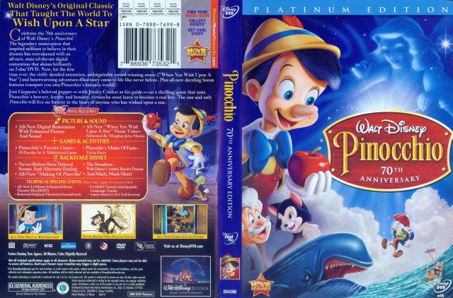 Pinocchio: 70th Anniversary - 786936735321 - Disney DVD ...  Pinocchio 70th Anniversary Edition Dvd