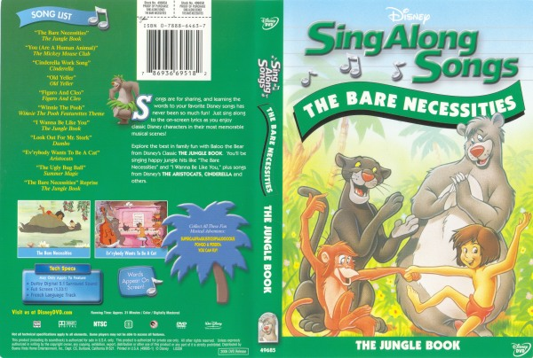 Sing along songs the jungle book the bare necessities sing along