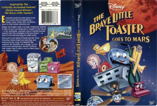 The Brave Little Toaster Goes To Mars Disney DVD
