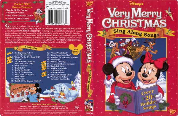 Sing Along Songs: Very Merry Christmas - 786936199765 - Disney DVD ...