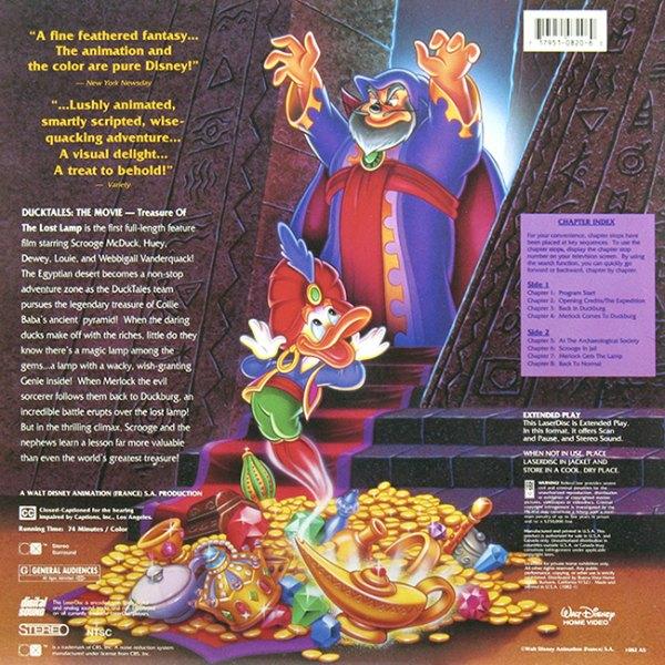 Elegant Back Cover: DuckTales: The Movie   Treasure Of The Lost Lamp / DuckTales: