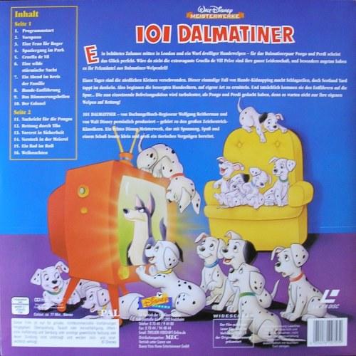 Back cover 101 dalmatiner 101 dalmatians