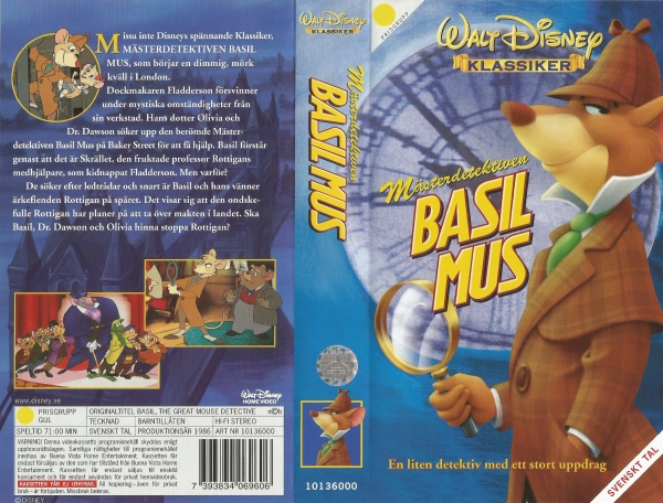 Mästerdetektiven Basil Mus / The Great Mouse Detective
