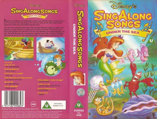 Sing Along Songs Under The Sea Ebay