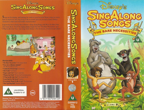 Sing Along Songs 01 - The Bare Necessities - D205812 - Disney ...