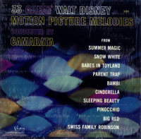 Front cover: 33 Great Walt Disney Motion Picture Melodies / 33 Great Walt Disney Motion Picture Melodies